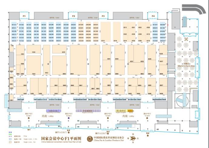 2012第38届中国国际裘皮革皮制品交易会展位图